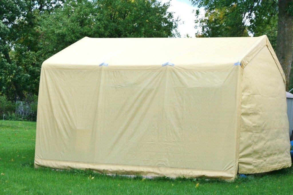 White Storage Shelter