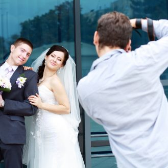 Wedding Photographer and couple