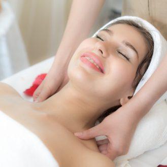 a girl having a spa treatment
