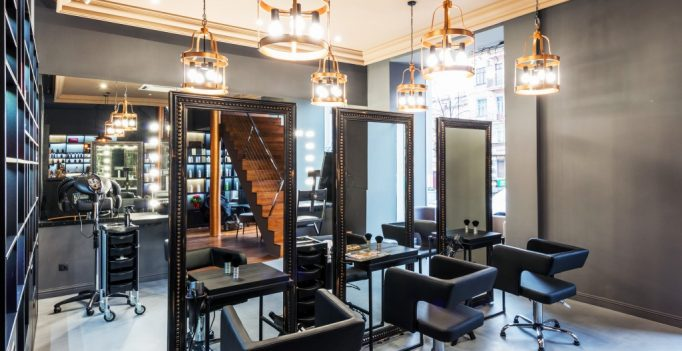 Modern beauty salon interior