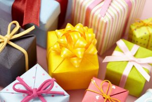 Cute gift boxes in different designs