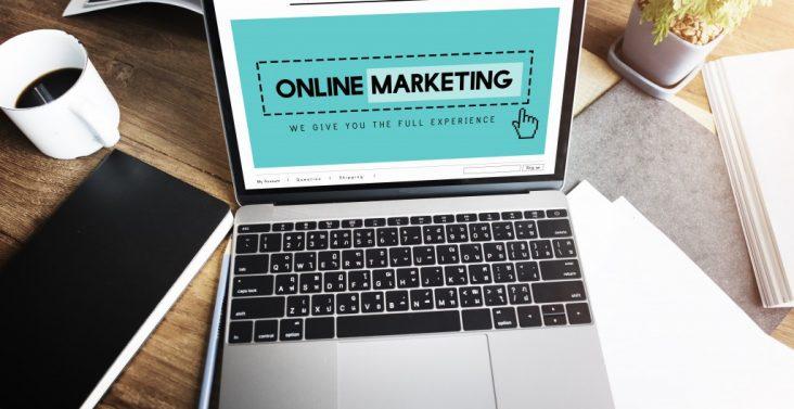 Online marketing homepage concept