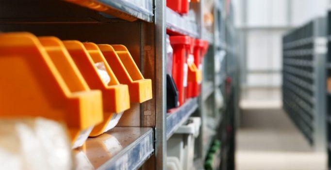 row of nally bins