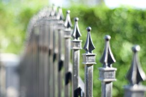 Metal fencing on a private property