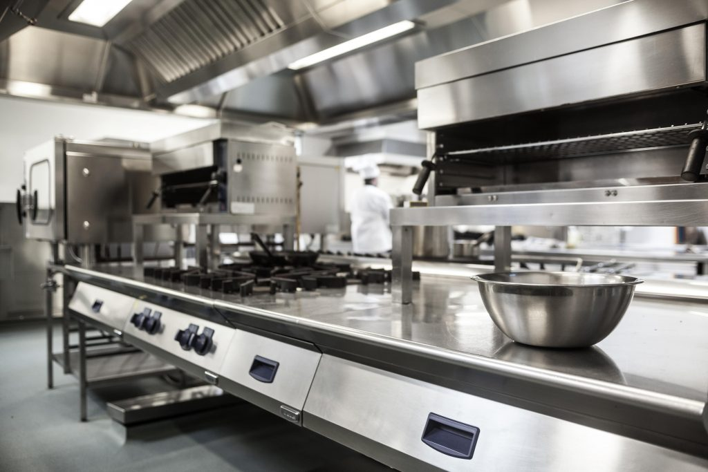 spacious commercial kitchen