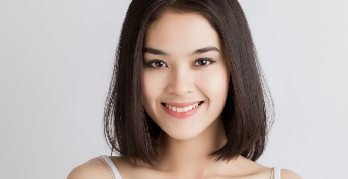 Close up woman smiling