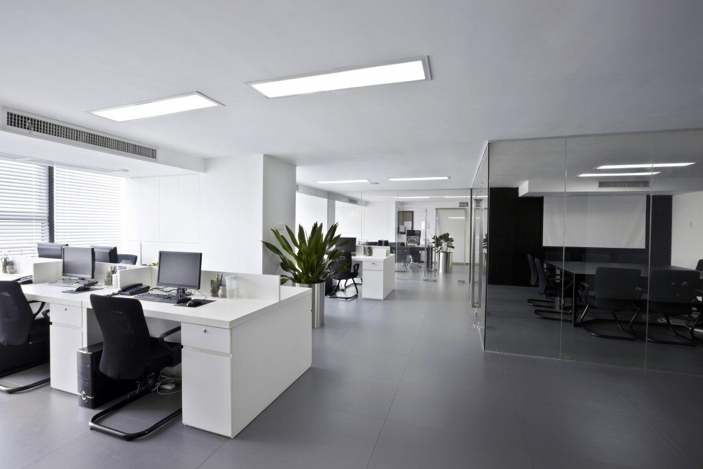 clean modern office
