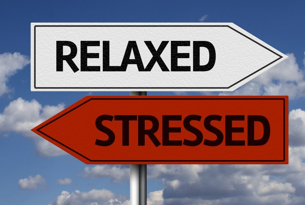 relax and stressed road signs