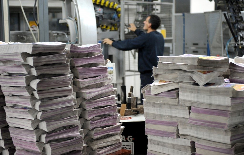 Newspaper printing process