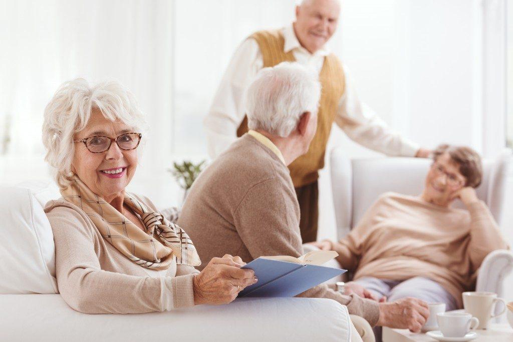 elders in a nursing home