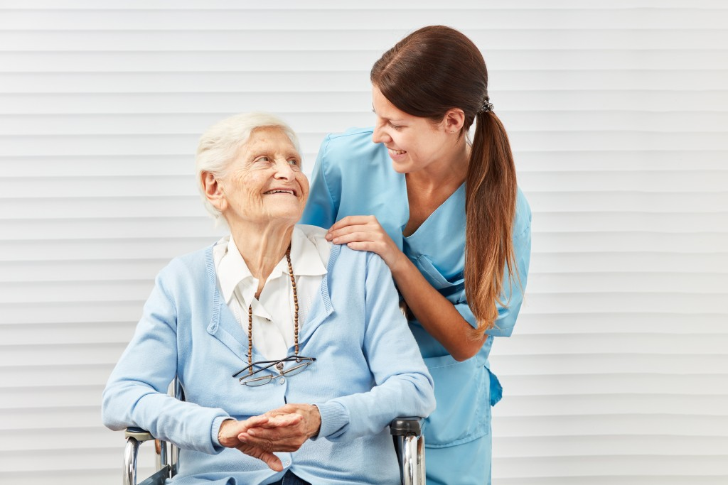 nurse and elder woman