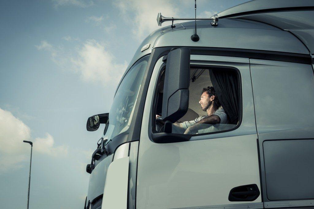 driver of a big truck