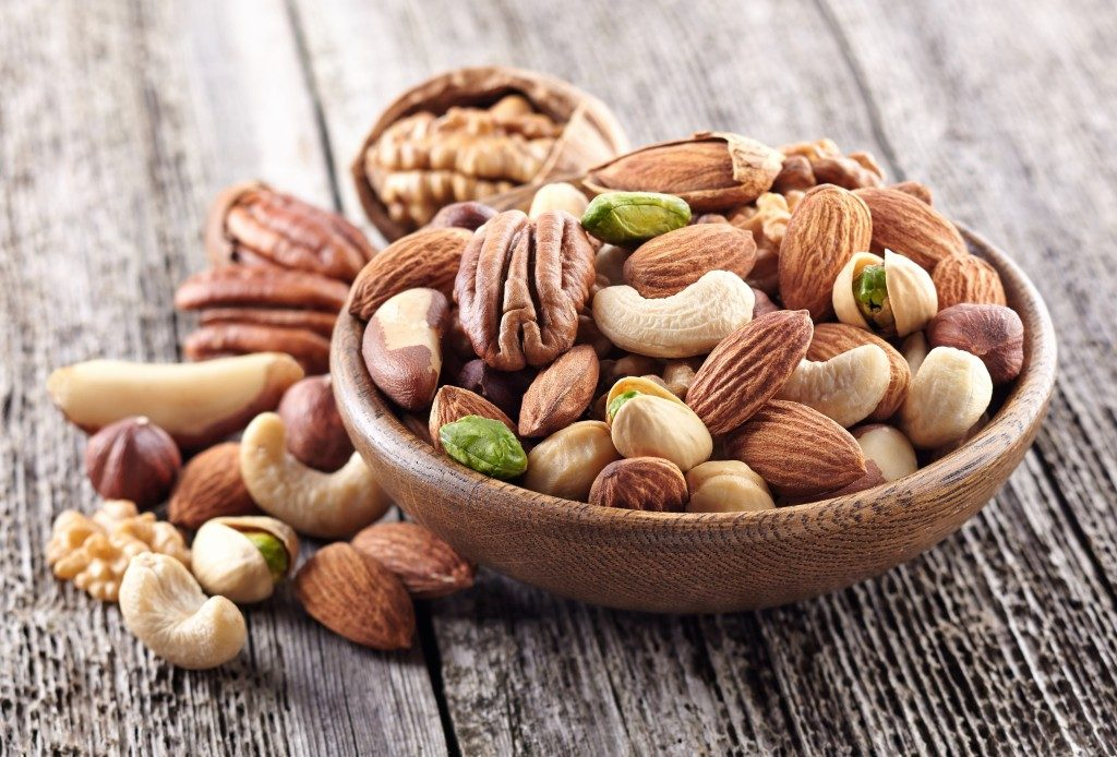 nuts on a bowl