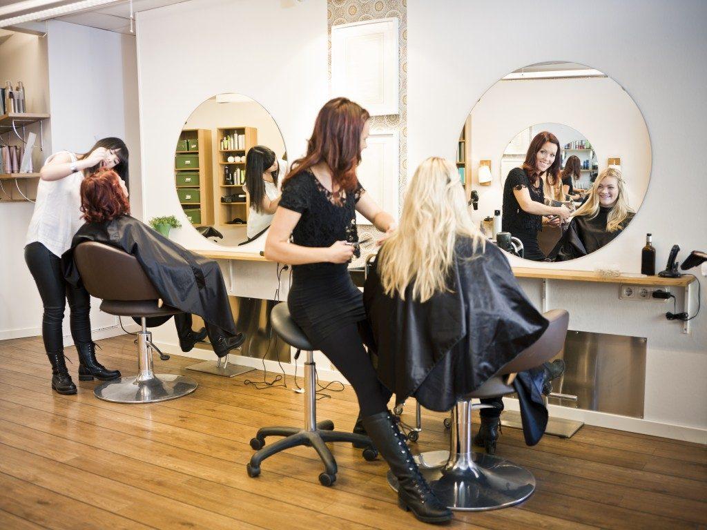 woman having hair treatment