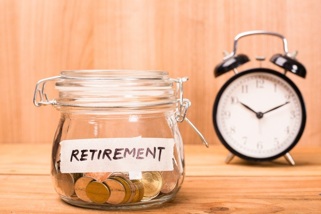 retirement jar full of coins