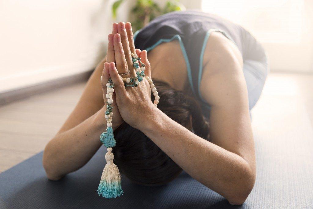 Mala bead yoga namaste