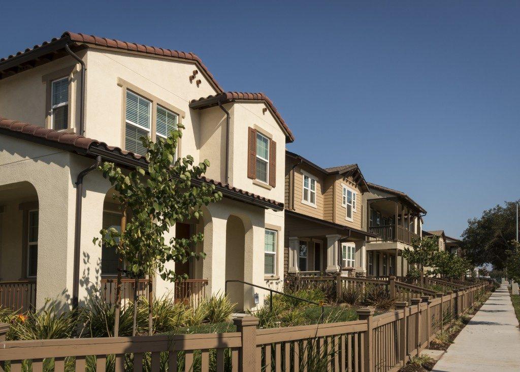 row of houses along the street