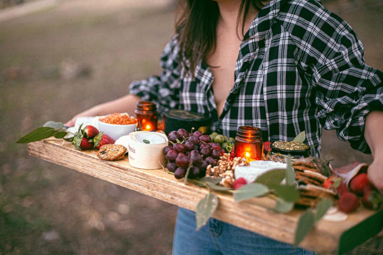 person serving healthy food