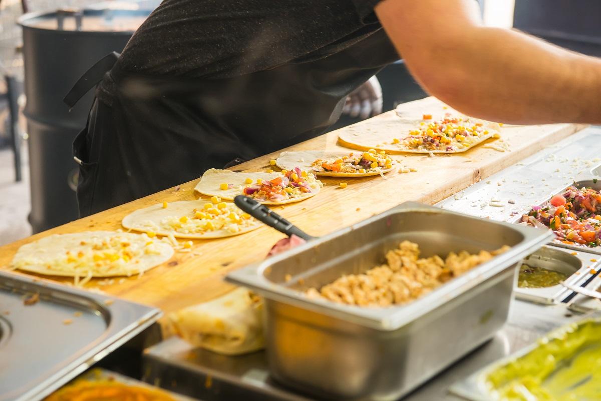 preparing food orders