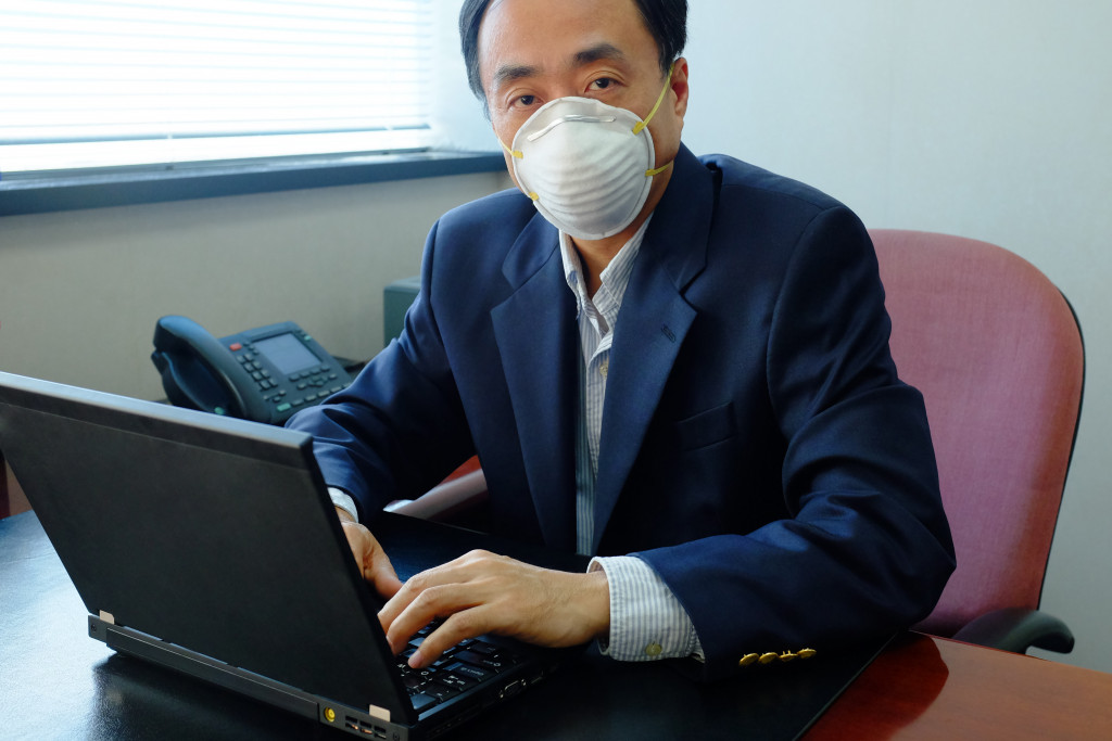 wearing face mask