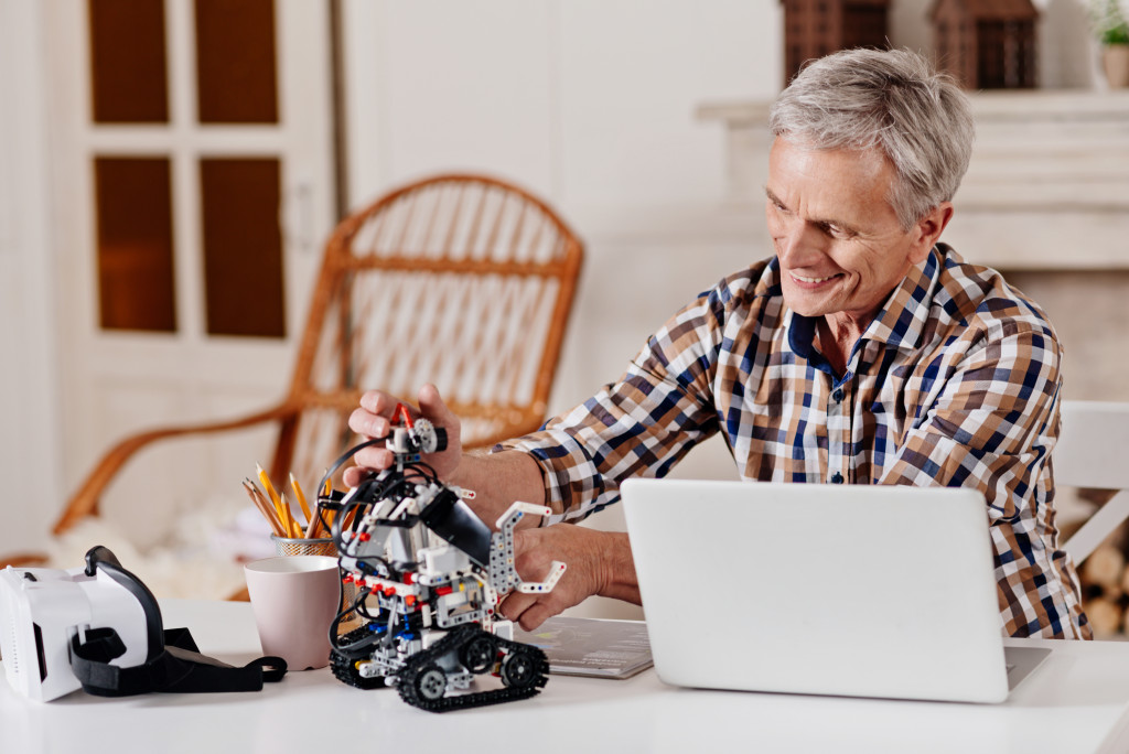 man doing robotics