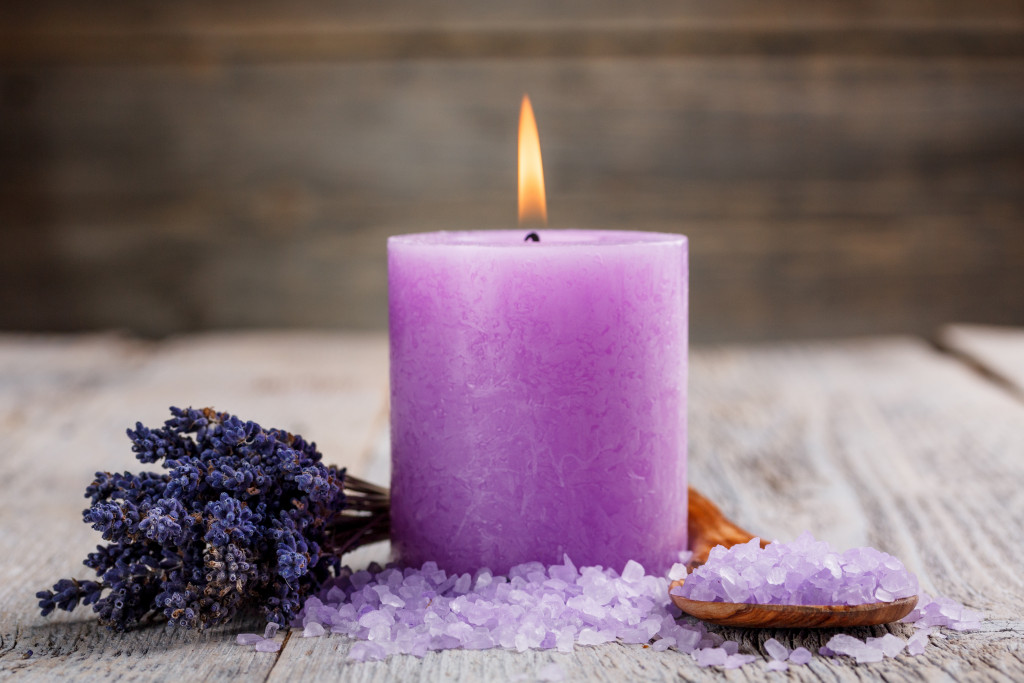 purple scented candle