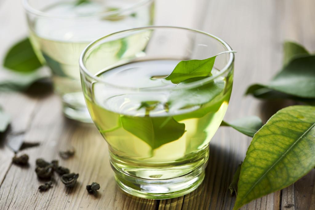 herbal tea in a glass